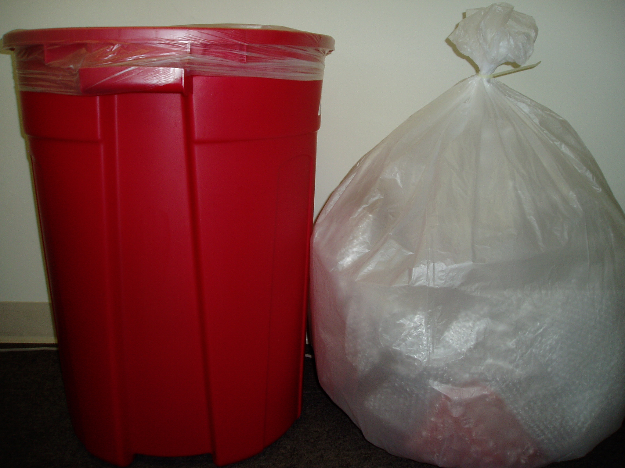 Clear Recycled Trash Bags