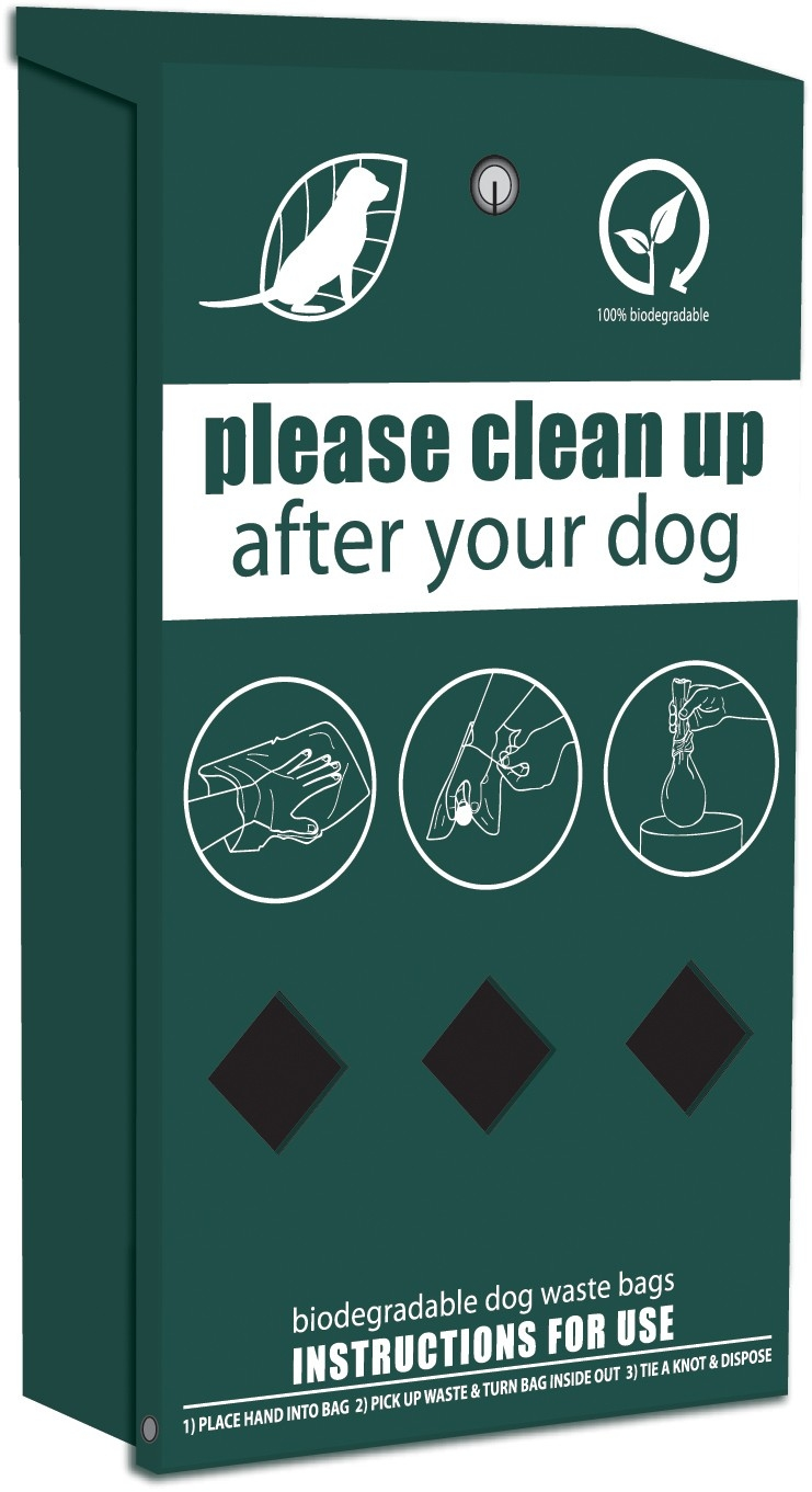 Rolled Dog Waste Bag Dispenser