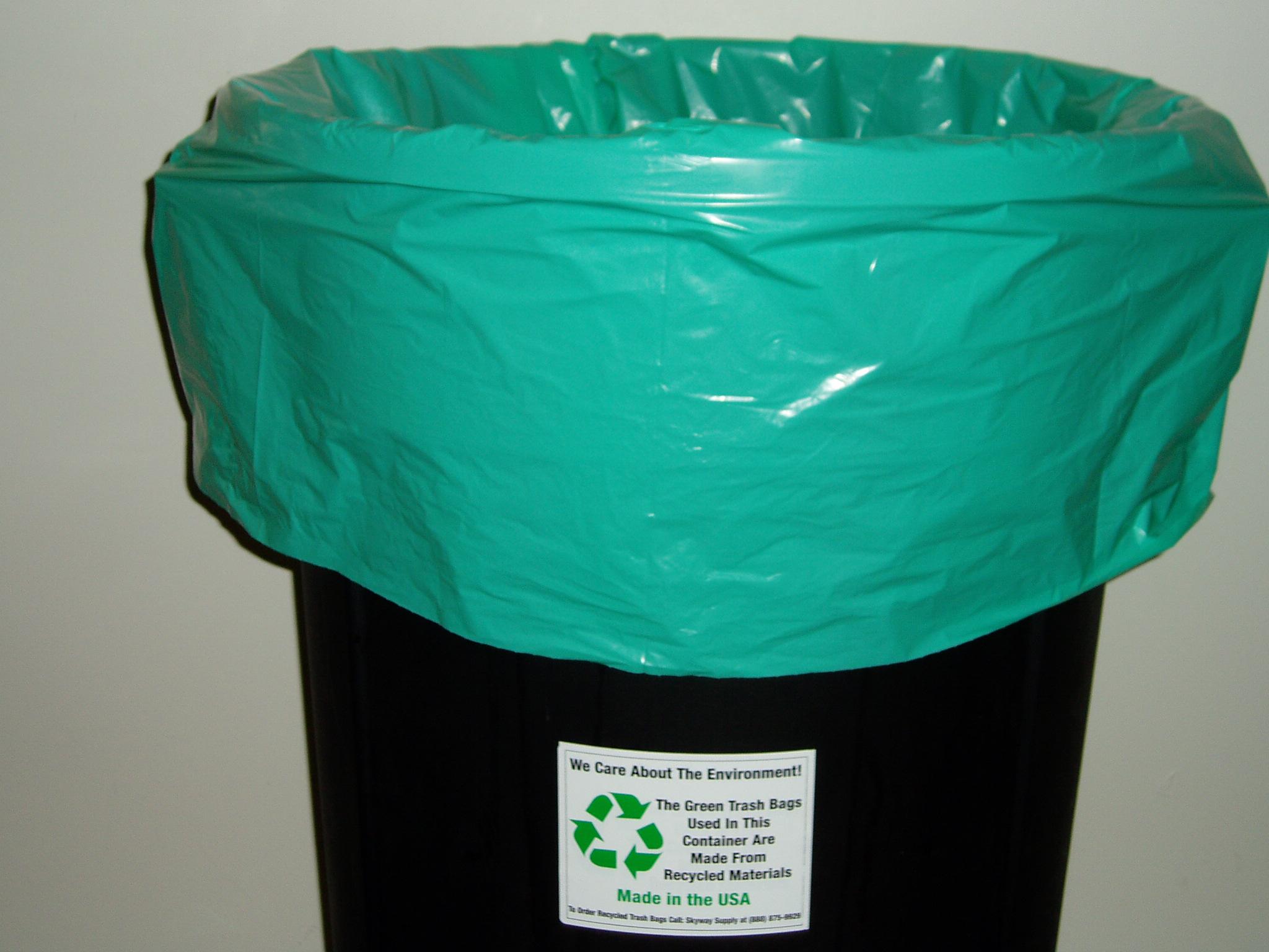 Green Recycled Trash Bag