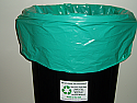 Green Recycled Trash Bag